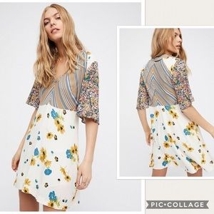 NWT Free People Mix It Up Floral Dress